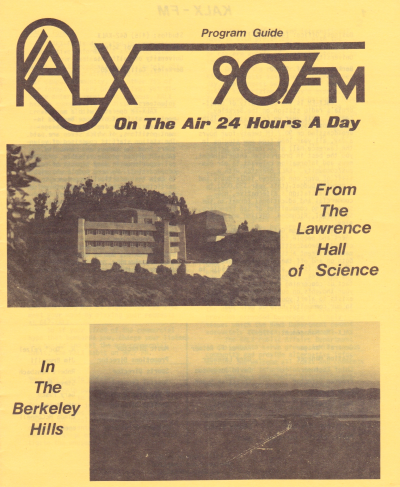 KALX Program Guide Cover 1976-1977