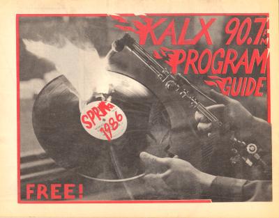 KALX Program Guide Cover Spring 1986