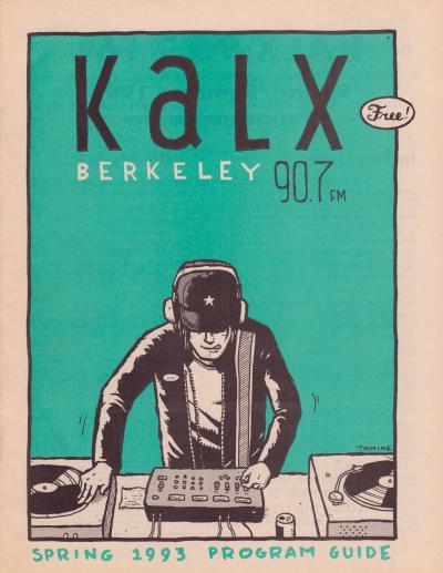 KALX Program Guide Cover Spring 1993
