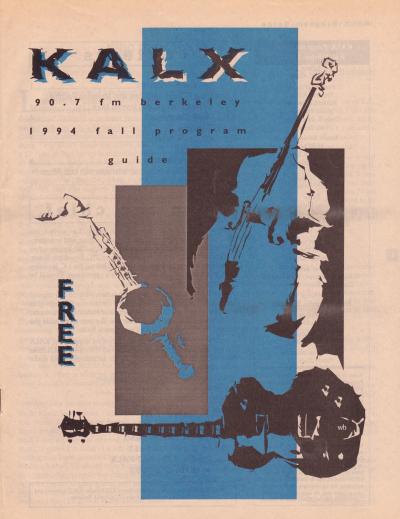 KALX Program Guide Cover Fall 1994