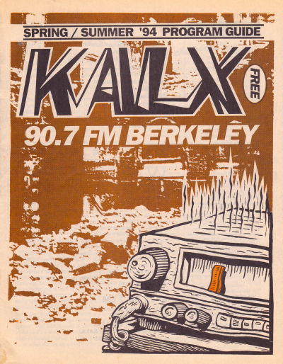KALX Program Guide Cover Spring - Summer 1994