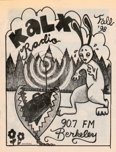 KALX Program Guide Cover Fall 1998