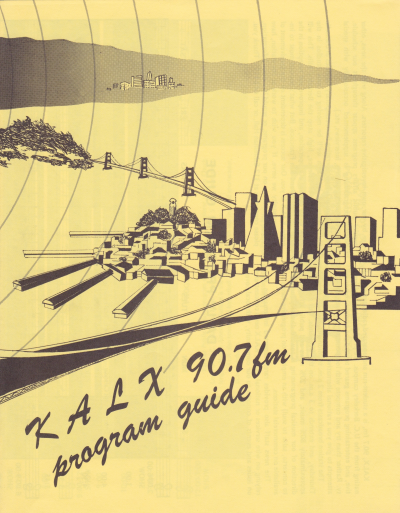 KALX Program Guide Cover Date Unknown