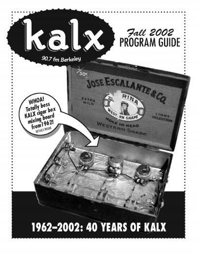 KALX Fall 2002 Program Guide