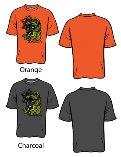 2017 KALX T-shirts in Orange or Gray