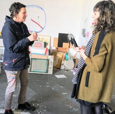 Alicia McCarthy and Art Crush host Jozefien Buydens