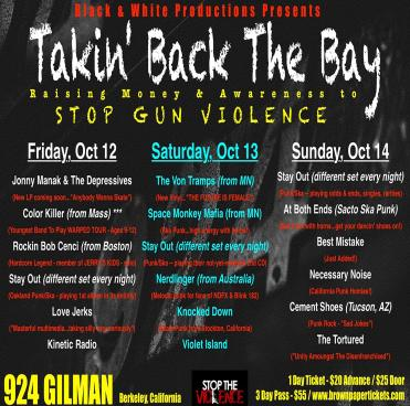 Takin' Back the Bay flyer