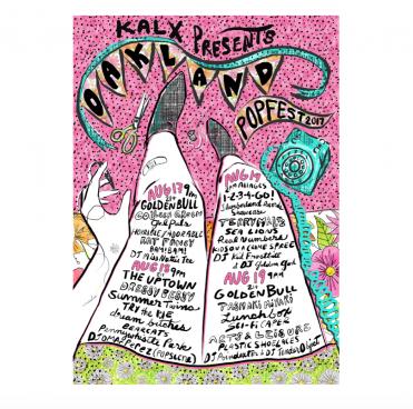 Oakland Popfest flyer