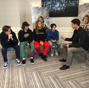 Photo of Sean McHugh with Mid90s cast