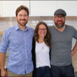 Photo of founders Sarah Dvorak, Oliver Dameron, and Eric Miller