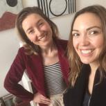 Photo of host Svea with Sofia Shu